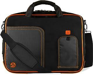 Orange Trim Laptop Messenger Bag 17 inch for HP Envy 17 17t, Omen 17 17t, Pavilion 17 17t 17z, ProBook 470 17.3 inch