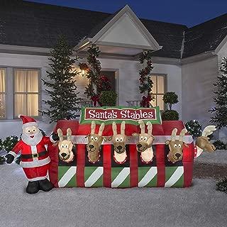 santa reindeer stable inflatable