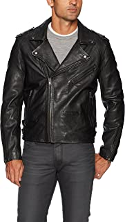 Cross Fade Leather Motorcycle Jacket Outerwear