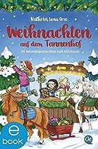 Weihnachten auf dem Tannenhof: 24 Adventsgeschichten zum Miträtseln (German Edition)