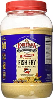 Louisiana Fish Fry Gallon Seasoned Crispy Fish Fry Breading Mix - 5.75 lbs.