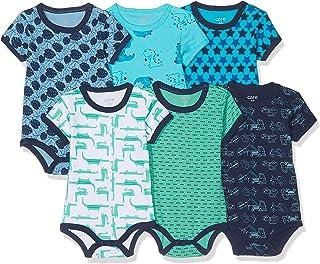 Amazon Exclusive: Care Baby – pojkar kort ärm kropp i 3-pack och 6-pack blå