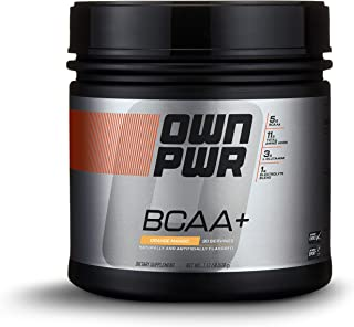 OWN PWR BCAA+ Powder, Orange Mango, 30 Servings, Micronized Branched Chain Amino Acids with Glutamine, Electrolytes & More