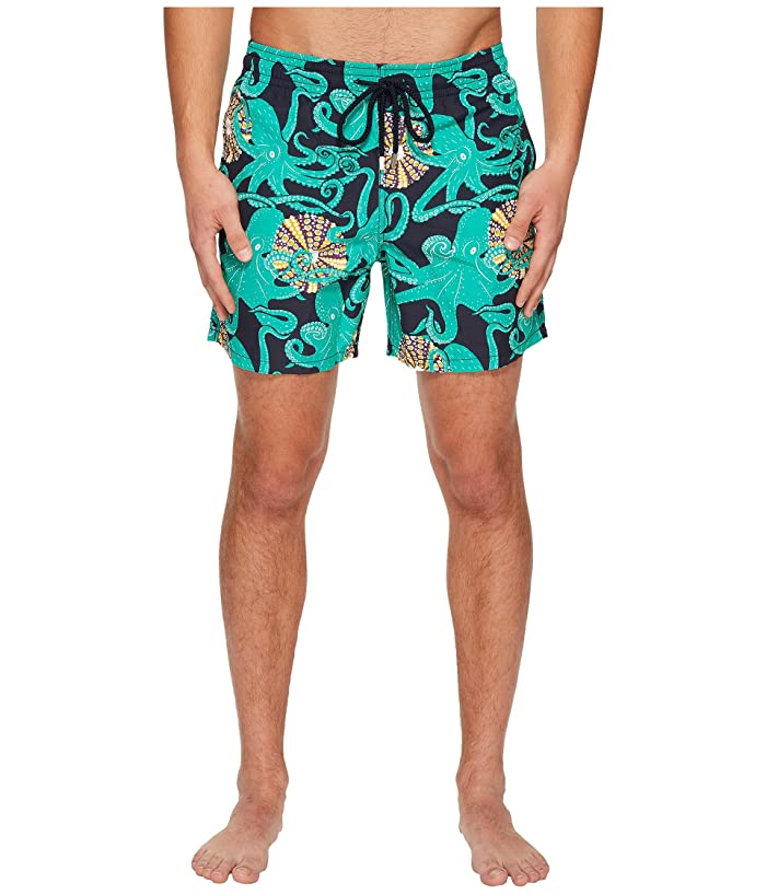 Vilebrequin Moorea Octopus Swim Trunk (Navy) Men