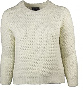 Jenny Women's Plus Size Cable Knit Pullover Sweater