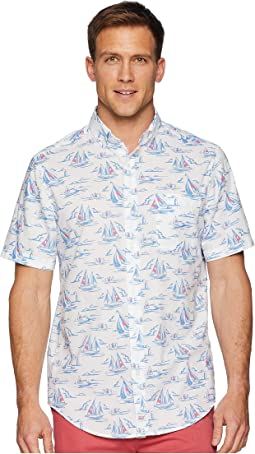 Sailing Scene Short Sleeve Classic Murray Shirt