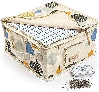 KnitlQ Premium Kit - 9 Tapis de Blocage Tricot de Mousse Extra Épaisse avec Grilles, 150 Épingles en T en Étain Artisanal,...