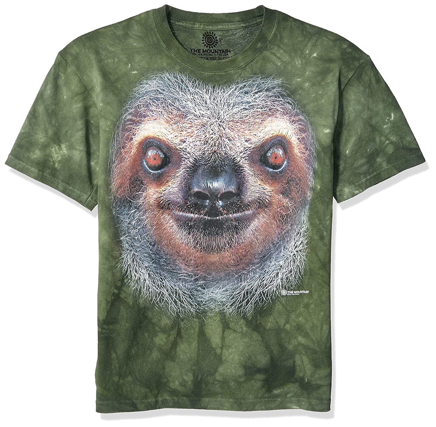 The Mountain Mens Graphic Tee Sloth Face T-shirt Adult Size