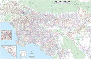 Los Angeles-Orange County-Riverside Detailed Region Wall Map (67