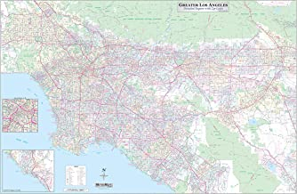 Los Angeles-Orange County-Riverside Detailed Region Wall Map (67