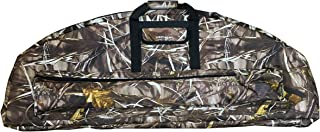 Silfrae Compound Bow Case Soft Bow Case Compound Bow Carry Bag with Arrow Pocket Real Tree and Black