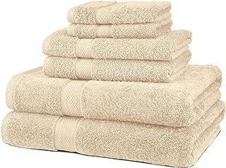 Pinzon 6 Piece Blended Egyptian Cotton Bath Towel Set – Cream