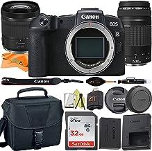 Cámara digital Canon EOS RP sin espejo de 26,2 MP Sensor CMOS de marco completo con RF 0.945-4.134in + EF 2.953-11.811in Daul lente + SanDisk tarjeta de 32 GB + funda + paquete de accesorios ZeeTech (15 unidades)