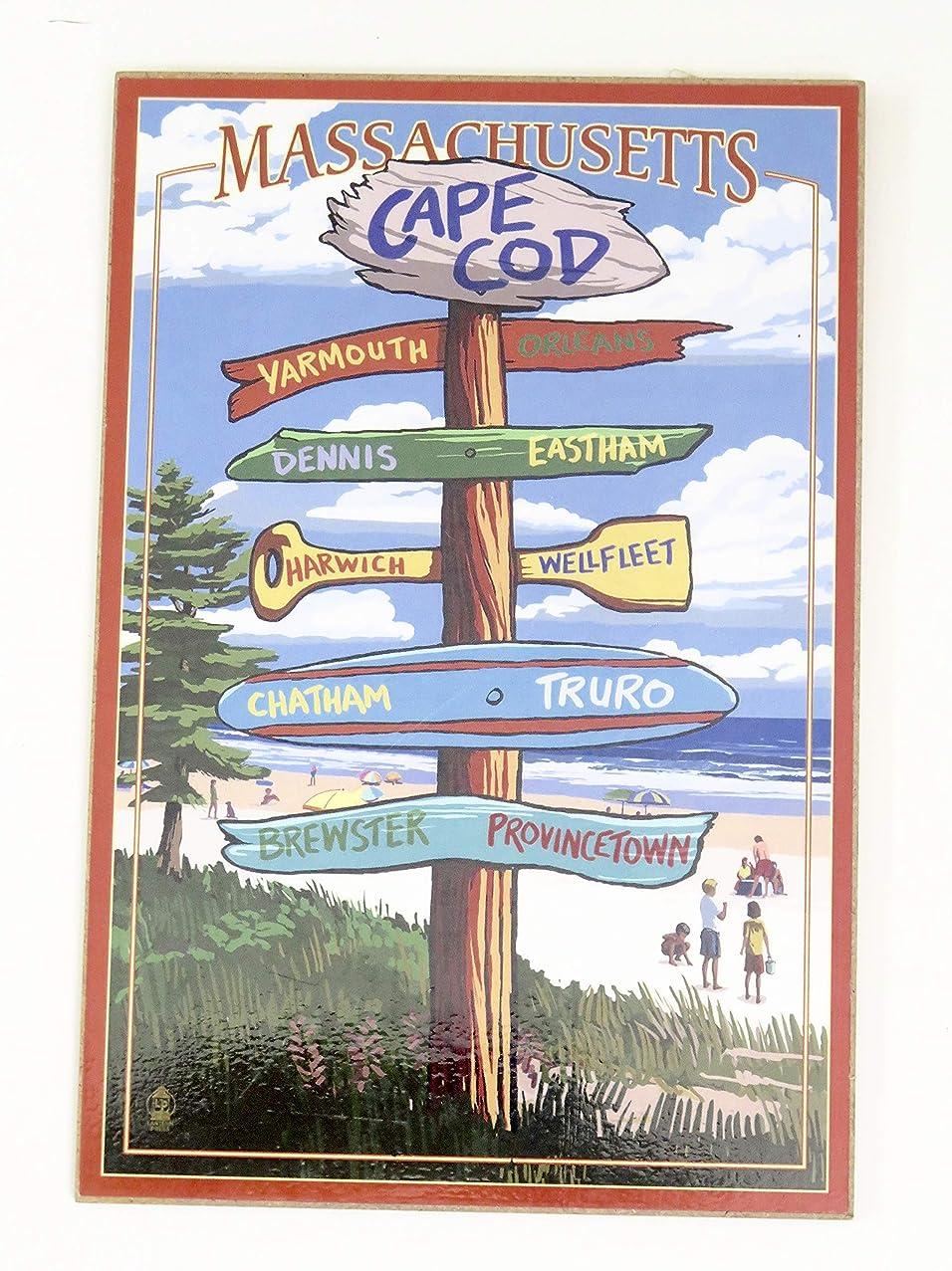 KeesSake Cape cod Massachusetts Wood Art Souvenir Gift Wall Decor