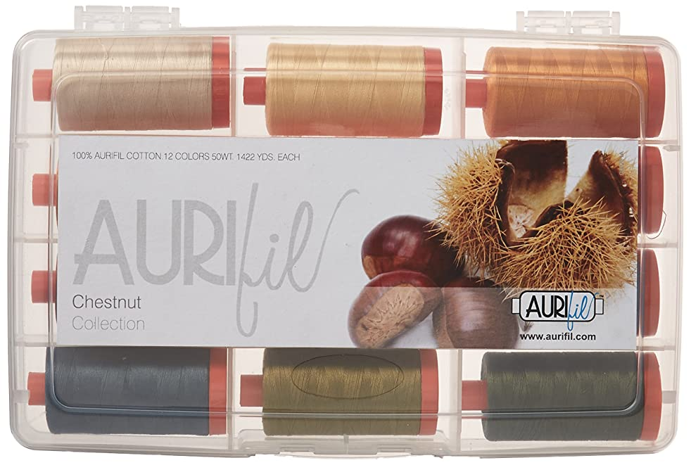 Aurifil Chestnut Collection 50wt 12 Large Spools