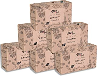 Mirah Belle - Organic Goat Milk, Cinnamon Purifying Soap Bar (Pack of 6-125 gm) - Oily and Infection Prone Skin. SLS, Para...