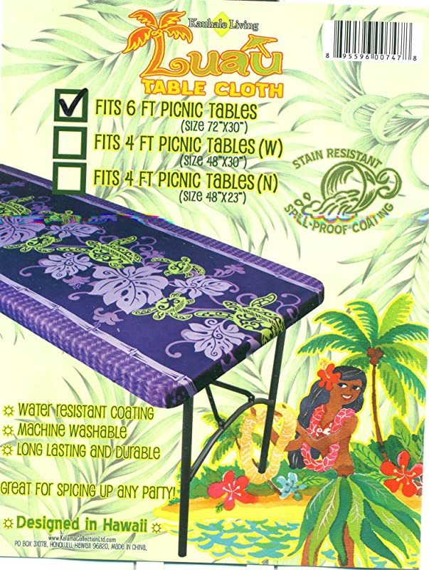 Fitted Tablecloth Fits 6 Feet Center Folding Tables Spicing Up Any Party Purple