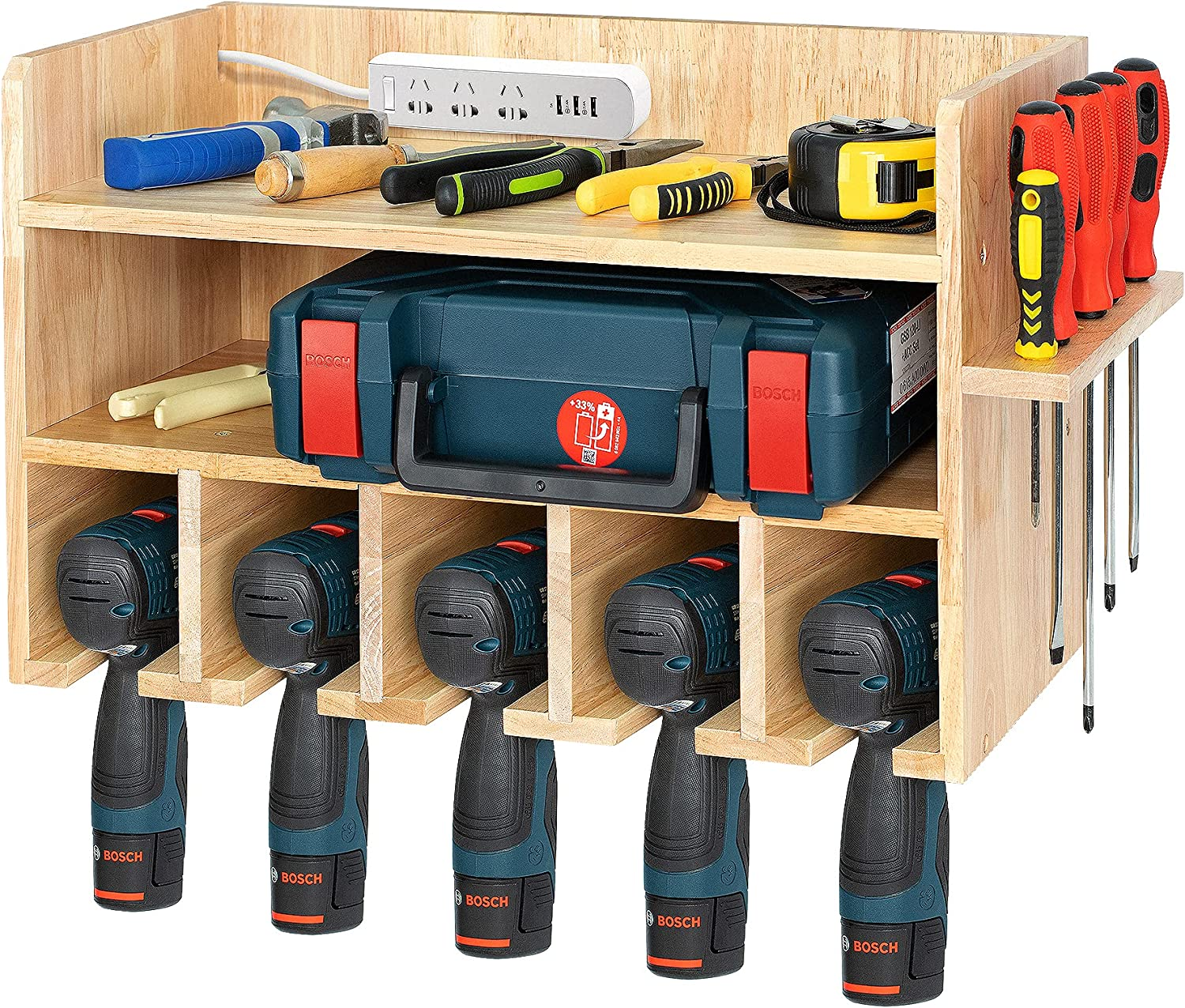 T-SIGN Power Tool Storage Organizer M ご予約品 Drill 人気急上昇 Natural Wall Holder