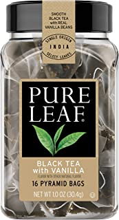 Pure Leaf Hot Tea Bags, Black Tea with Vanilla, 16 count (Pack of 6)