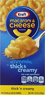 Kraft Thick 'n Creamy Macaroni & Cheese Dinner (7.25 oz Boxes, Pack of 12)