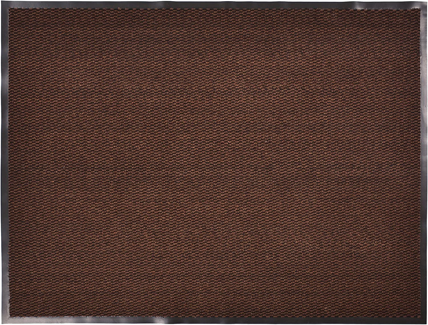 RugStylesOnline Entry Mat Doormat Entrance Mat and Hallway Runner Entry Collection Brown Black color Slip Skid Resistant PVC Backing Anti Bacterial (Brown-Black, 3' x 4')