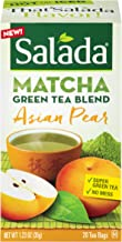 Salada Teas Matcha Green Tea, 6 Boxes of 20 (120 Tea Bags), Asian Pear