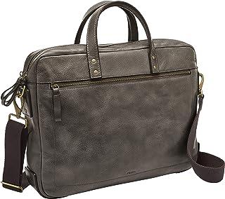 Fossil Haskell Leather 40.64 cms Grey Messenger Bag (MBG9342257)
