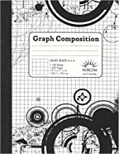 Black and White Patterned Graph Composition Notebook - Quad Ruled 4x4