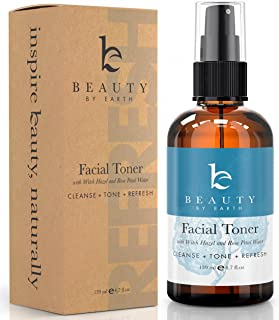 Face Toner Rose Water Spray - Organic Witch Hazel & Rosewater Spray Facial Toner for Women, Skin Care Toner for Face Care, Face Mist to pH Balance, Face Spray Facial Mist With Hydrating Aloe Vera