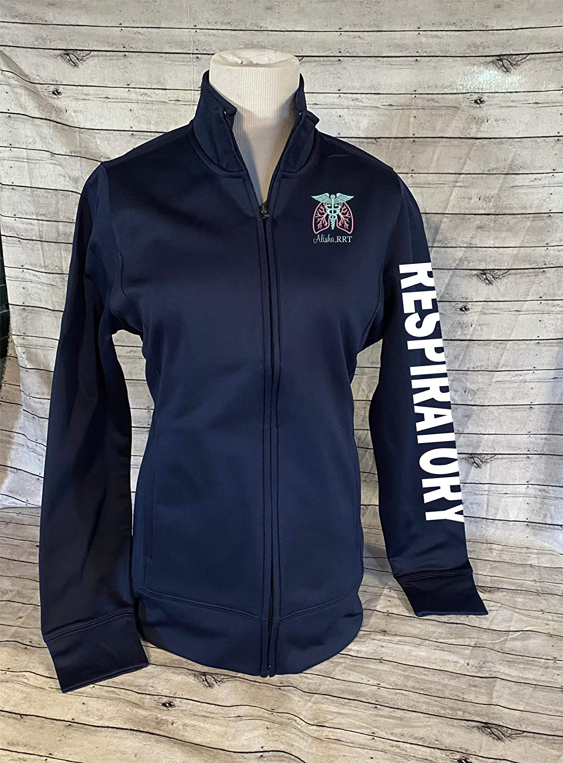 Ladies Personalized Full Austin Mall Zip Jacket Respiratory Therapist Popular shop is the lowest price challenge Nurse