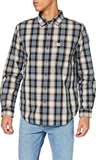 Carhartt Men's Long-Sleeve Essential Open Collar Shirt Plaid