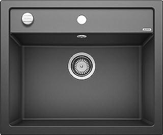 BLANCO DALAGO 6 – Spülbecken in modernem Design für 60 cm breite Unterschränke – aus SILGRANIT in Stein-Haptik – anthrazit-grau – 514197