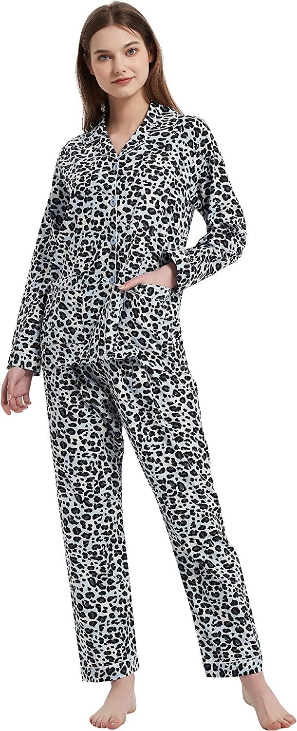 Amaxer Women's Max 41% OFF 100% Cotton Pajama New mail order Set Butto Soft Sleeve PJs Long