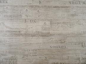 von Alpha-Tex 9,95/€//m/² braun PVC in Vintage-Optik L/änge: 550 cm, Breite: 300cm