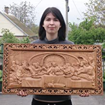Last Supper 3D Art Orthodox Wood Carved religious Icon - Large (28