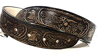American Eagle Design Handmade Mens Leather Belt Western Casual Belt 1.5