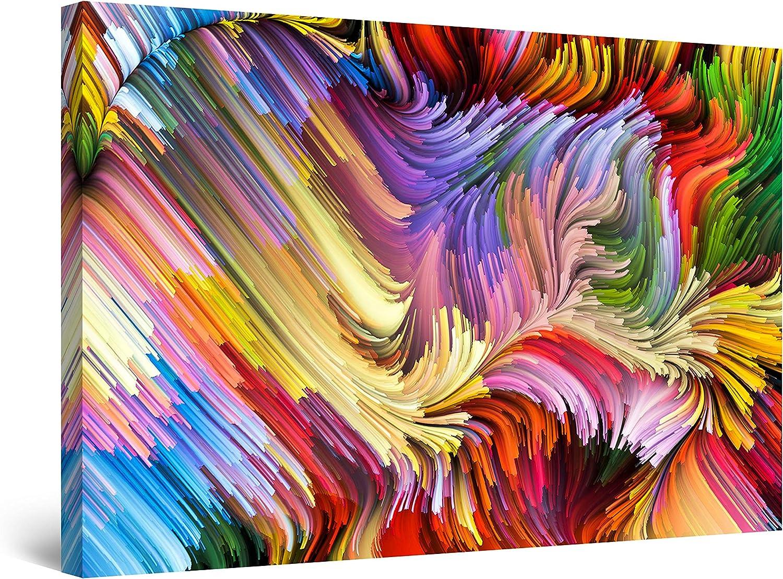 Startonight Canvas Wall Art ショップ - Chaos Abstract 安心と信頼 Multicolor