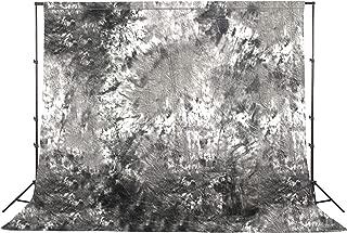 Fovitec - 1x 10'x20' Photography & Video Grey Tie Dye Muslin Backdrop - [Cotton][Rod Pocket][Seamless][Matte Finish][Machine Washable]
