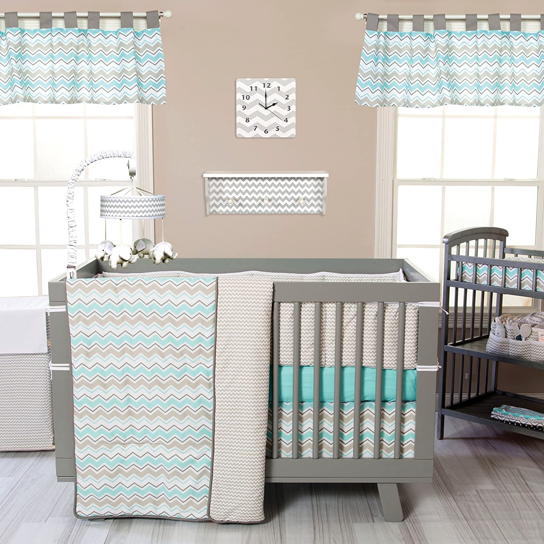 Seashore Waves 3 Piece Crib Classic Max 59% OFF Bedding Set