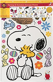 Eureka Classroom Supplies Snoopy Spring and Summer Seasonal Bulletin Board Set, 58 pcs