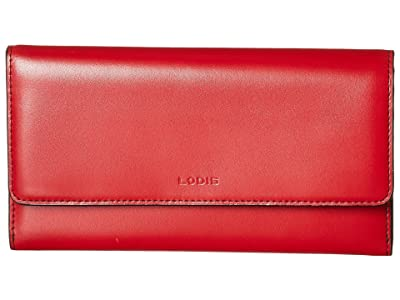 Lodis Accessories Audrey Under Lock Key RFID Luna Clutch Wallet (Red) Wallet Handbags