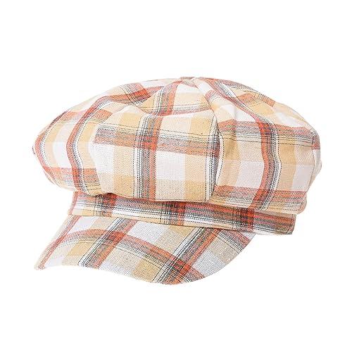 WITHMOONS Newsboy Hat Tartan Check Pattern British Beret Cap ACG1096