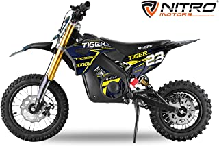 Dirtbike für Kinder Eco Tiger 1000W 36V Pocketbike Pitbike Bike Cross Offroad Elektro Blau