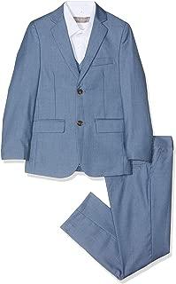 niños traje azul, Chambray Suit, Página Chico Trajes, niños trajes de boda, 1-13años
