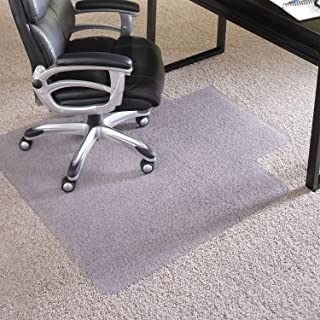 ES Robbins EverLife 45-Inch by 53-Inch Performance Series Anchor Bar with Lip Vinyl Chair Mat, Clear