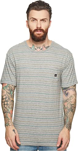 VISSLA - Flushed Short Sleeve Heathered Knit Pocket Top