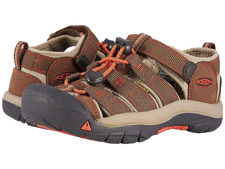 Keen Kids Newport H2 (Little Kid/Big Kid) (Dark Earth/Spicy Orange) Boys Shoes