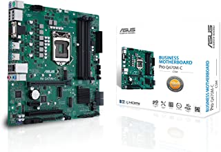 ASUS PRO Q470M-C/CSM LGA1200 (Intel 10th Gen) uATX Commercial Motherboard (Intel vPro, Intel LAN, 2xDisplayPorts, HDMI/D-Sub,TPM, LPC debug Header and ASUS Control Center Express)