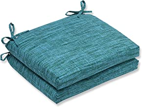 Pillow Perfect Outdoor/Indoor Remi Lagoon Squared Corners Seat Cushion (Set of 2)