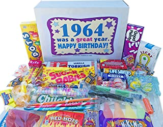 Woodstock Candy ~ 1964 55th Birthday Gift Box Nostalgic Retro Candy Mix from Childhood for 55 Year Old Man or Woman Born 1964 Jr